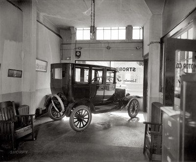 A Model T, sitting in the show room in 1924/